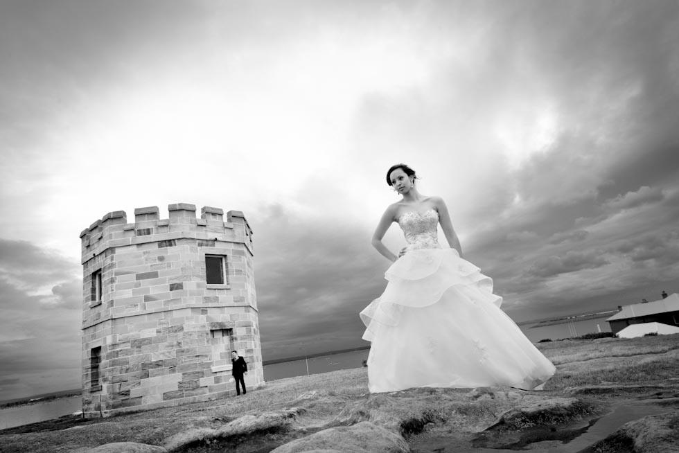Wedding photo locations Sydney - Bare Island La Parouse