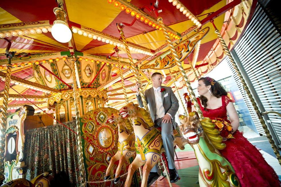 Wedding photography locations Sydney - Luna Park