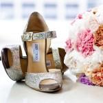 Beautiful Jimmy Choo wedding shoes