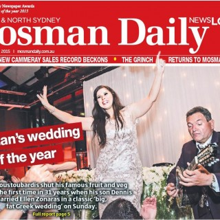 Mosman's Wedding of the Year Featured in Mosman Daily