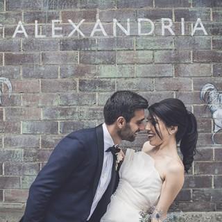 Grounds of Alexandria wedding photo