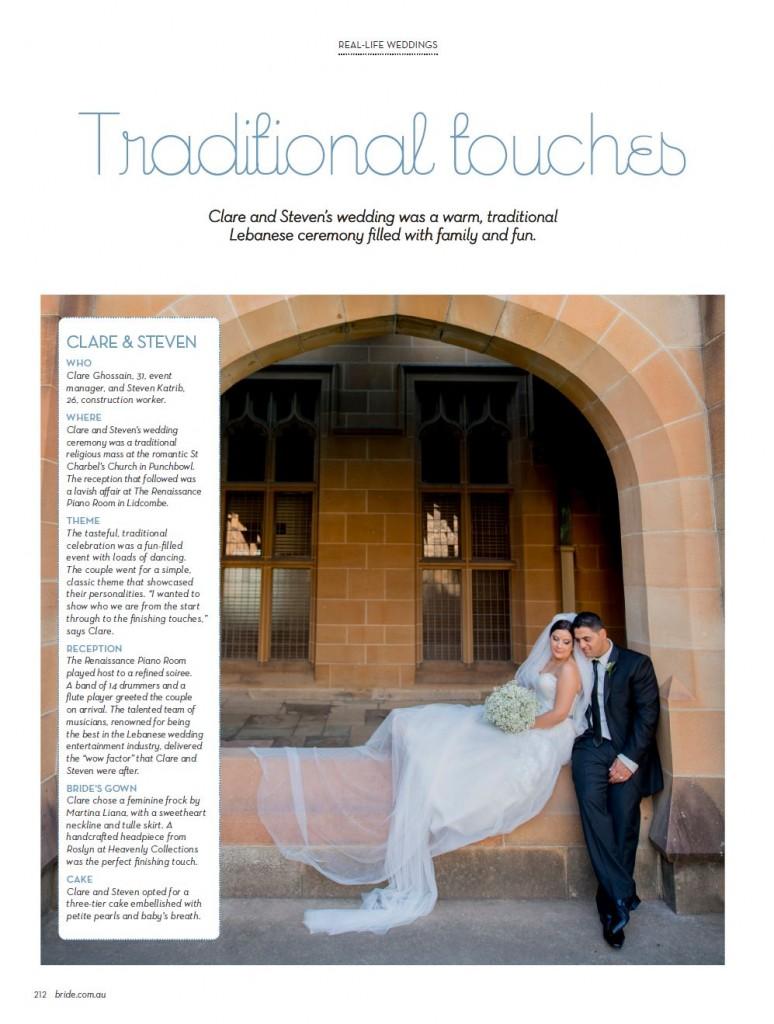 Bride Magazine Wedding Photography | Sydney and Australia Editions | Spring 2014