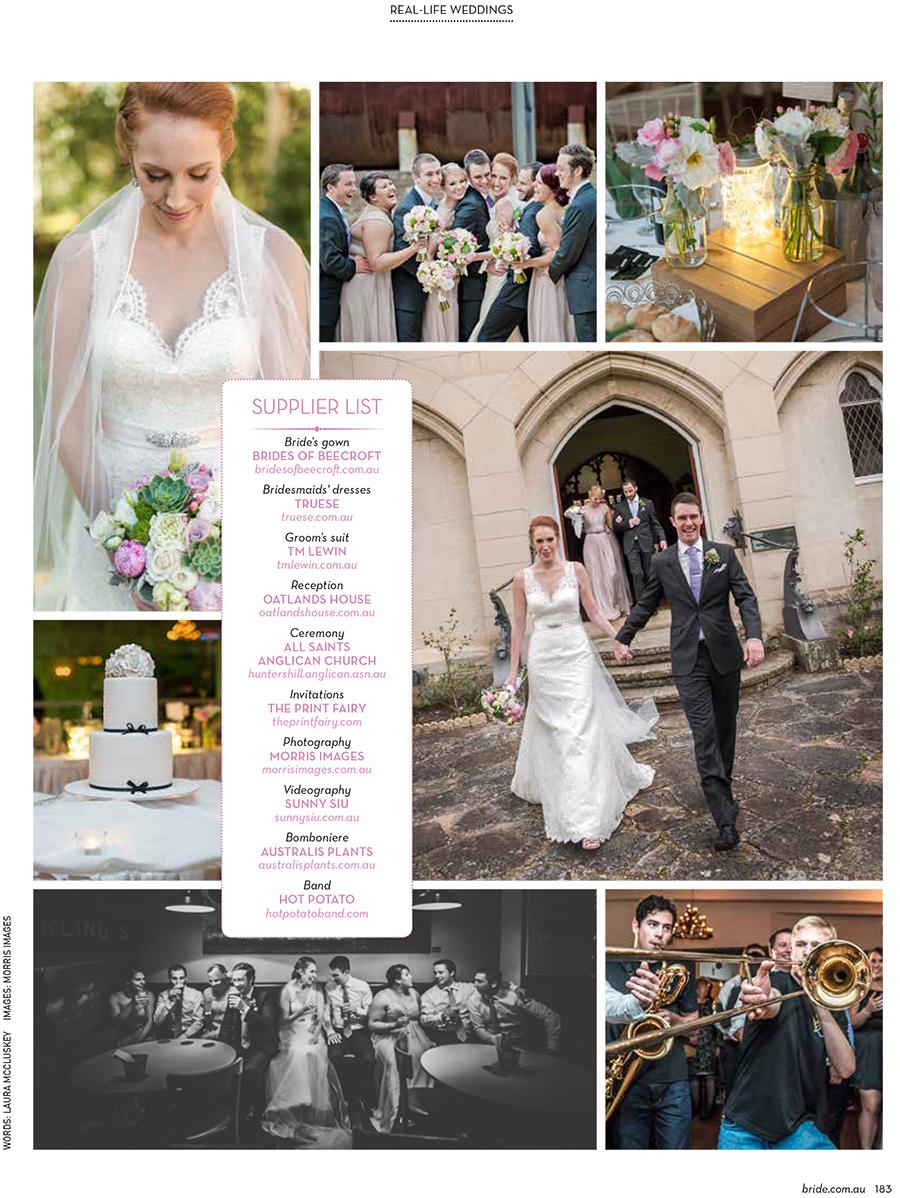 Bride Magazine Autumn 2015 Featuring Morris Images